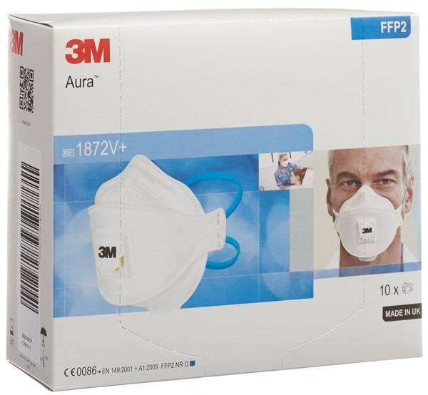 3M ATEMSCHUTZ MASKE FFP2 MIT VENTIL 10 STK online einkaufen